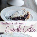This Blueberry Almond Crumb Cake made with canned blueberry pie filling is so easy to make it's perfect for last-minute entertaining.