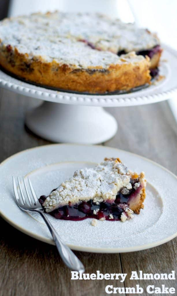 This Blueberry Almond Crumb Cake is so easy to make it's perfect for last minute entertaining.