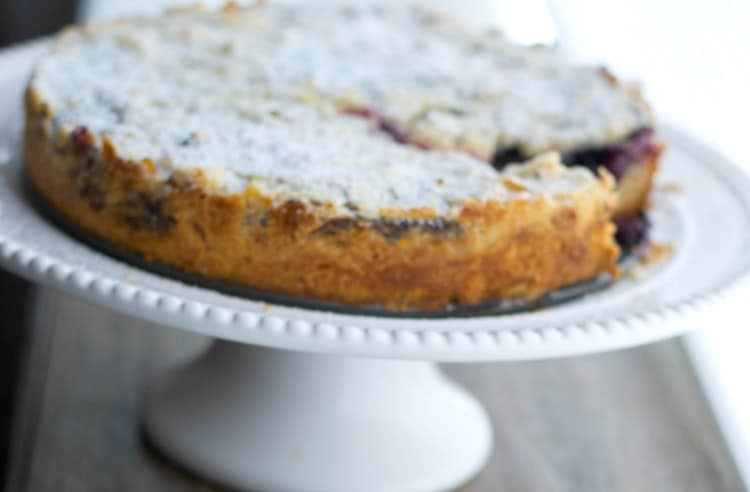 Blueberry Almond Crumb Cake