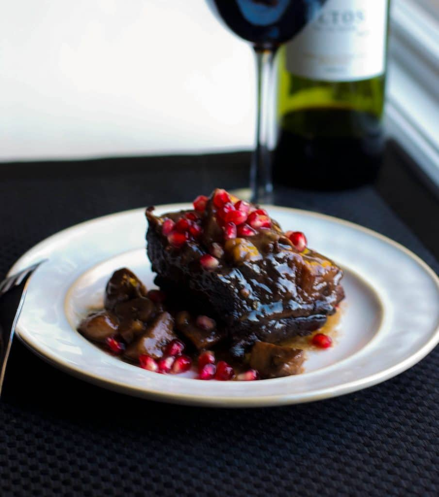 Pomegranate Cabernet Braised Short Ribs