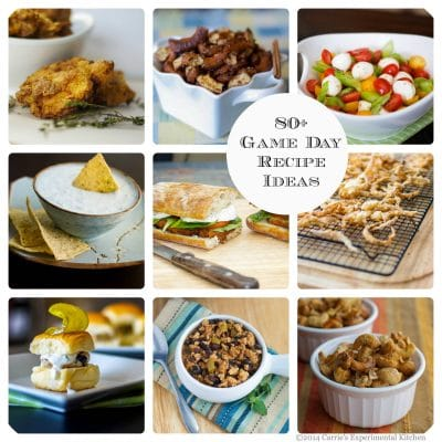 Are you ready for the Super Bowl? Here are over 80 Game Day Recipes Ideas to give you a little party inspiration!