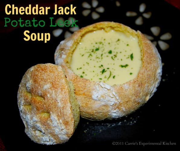 Cheddar Jack Potato Leek Soup