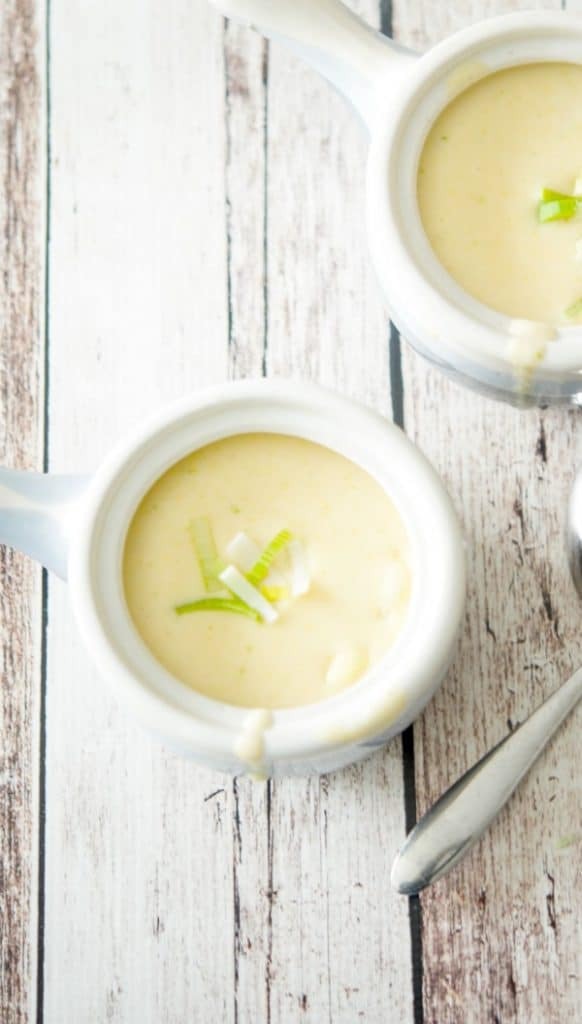 Creamy Cheddar Jack Potato Leek Soup made with Yukon Gold potatoes, leeks, and a combination of shredded Cheddar Jack cheeses is deliciously satisfying for lunch or dinner.