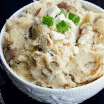 Crockpot Greek Mashed Potatoes
