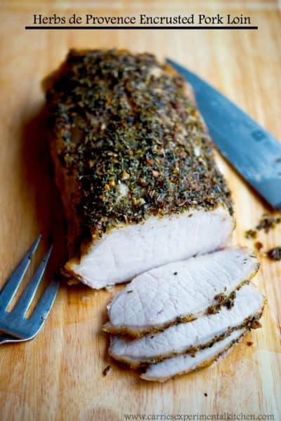 Herbs de Provence Encrusted Pork Loin