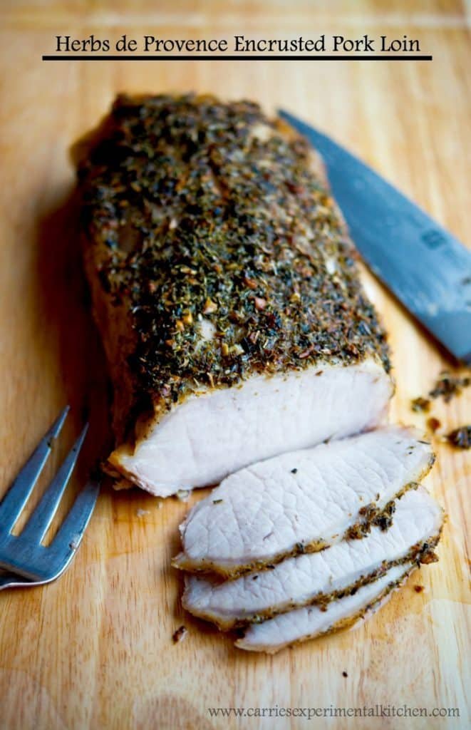 This Herbs de Provence Encrusted Pork Loin is a must try for Sunday Supper. The fragrant flavors of this dried spice go perfectly on chicken and fish as well.