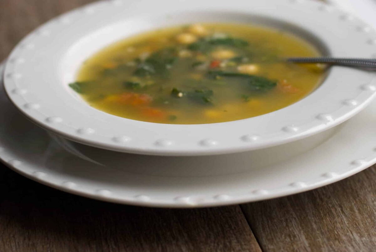 Spinach and Chick Pea Soup