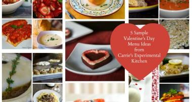 5 Sample Valentine's Day Menu Ideas