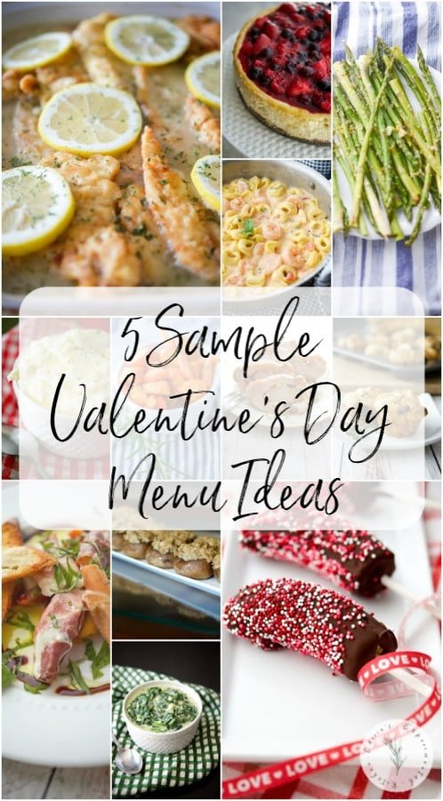Make that special someone a homecooked meal to show how much you care. Here are 5 Sample Valentine's Day Menu Ideas to give you some inspiration.