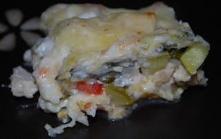 Chicken Vegetable Alfredo Lasagna