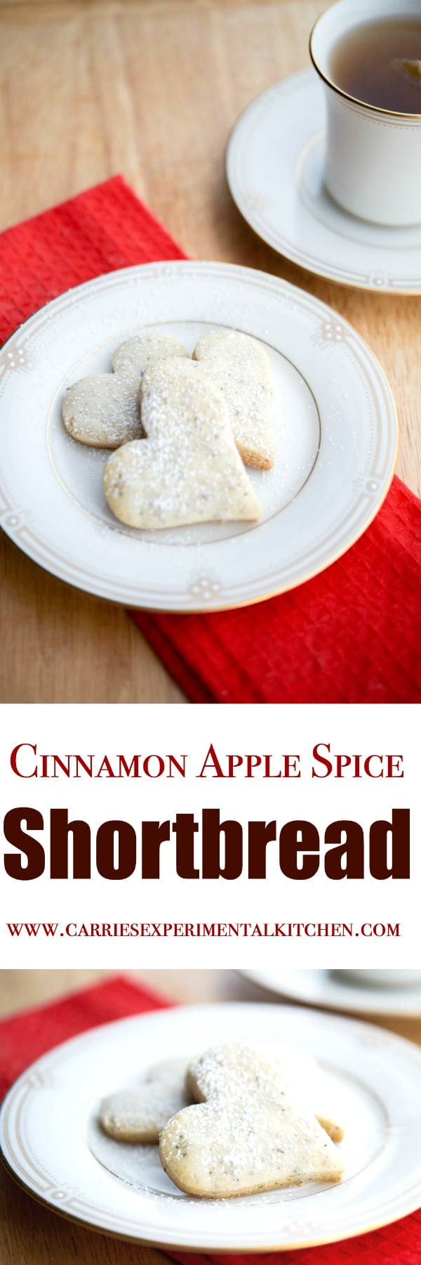 Cinnamon Apple Spice tea leaves add a Autumnal twist to your favorite shortbread cookie.
