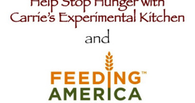 Help Stop Hunger with Carrie's Experimental Kitchen and Feeding America