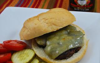 Garlic Head Mushroom & Scallion Burger with Havarti Cheese