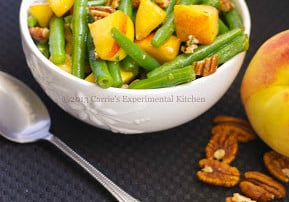 Green Bean & Peach Salad in a Maple Pecan Vinaigrette