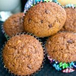 Hazelnut Chocolate Chip Banana Muffins