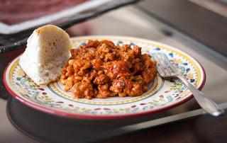 Italian Turkey Sausage & Roasted Tomato White Bean Stew #macgrillgive