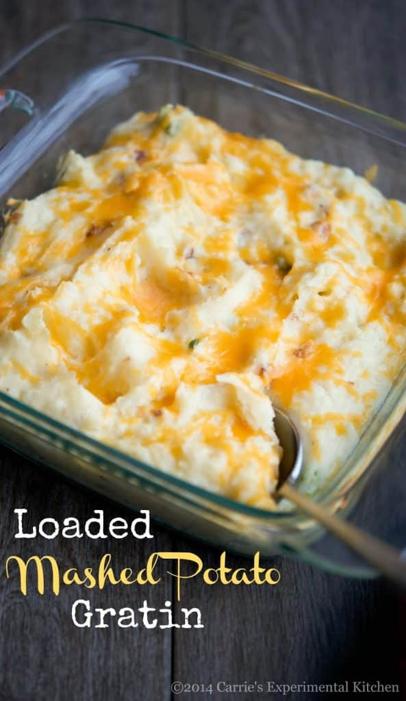 Loaded Mashed Potato Gratin | Carrie's Experimental Kitchen