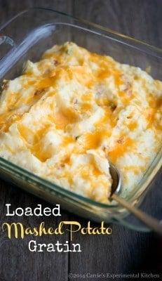 Loaded Mashed Potato Gratin