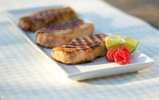 Raspberry-Lime Grilled Pork Chops