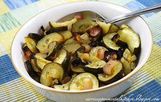 Lime Roasted Zucchini & Shallots