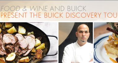 Buick Discovery Tour with Food and Wine Magazine