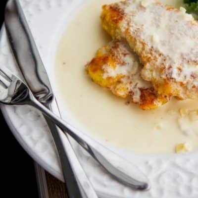 Enjoy one of your favorite restaurant meals at home with this copycat version of The Cheesecake Factory's Chicken Costoletta. Boneless chicken lightly breaded in a Panko and lemon crust, fried; then topped with a lemony cream sauce.