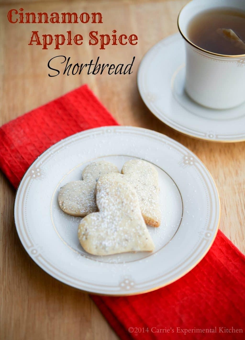 Cinnamon Apple Spice Shortbread - Carrie's Experimental Kitchen