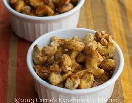 Honey Cinnamon Roasted Cashews