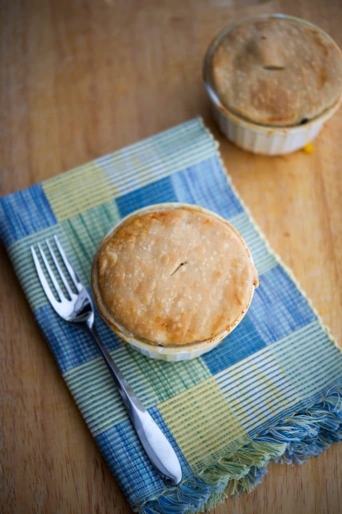 Repurpose leftover chicken or turkey into a new weeknight meal with this delicious Individual Chicken Pot Pie.