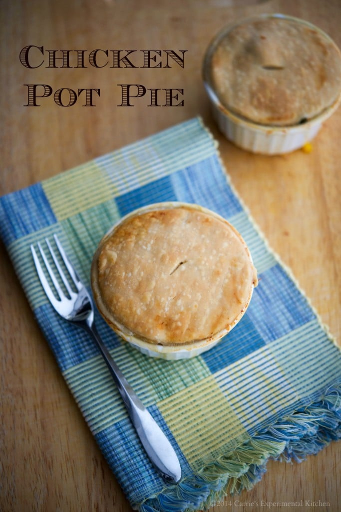 Individual Chicken Pot Pie | Turn leftover chicken or turkey into a new meal with this delicious Chicken Pot Pie.