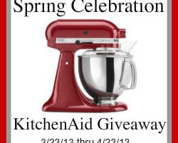 Reminder: Enter to win the KitchenAid Stand Mixer Giveaway!