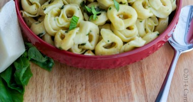 Tortellini with Brown Butter, Garlic & Basil