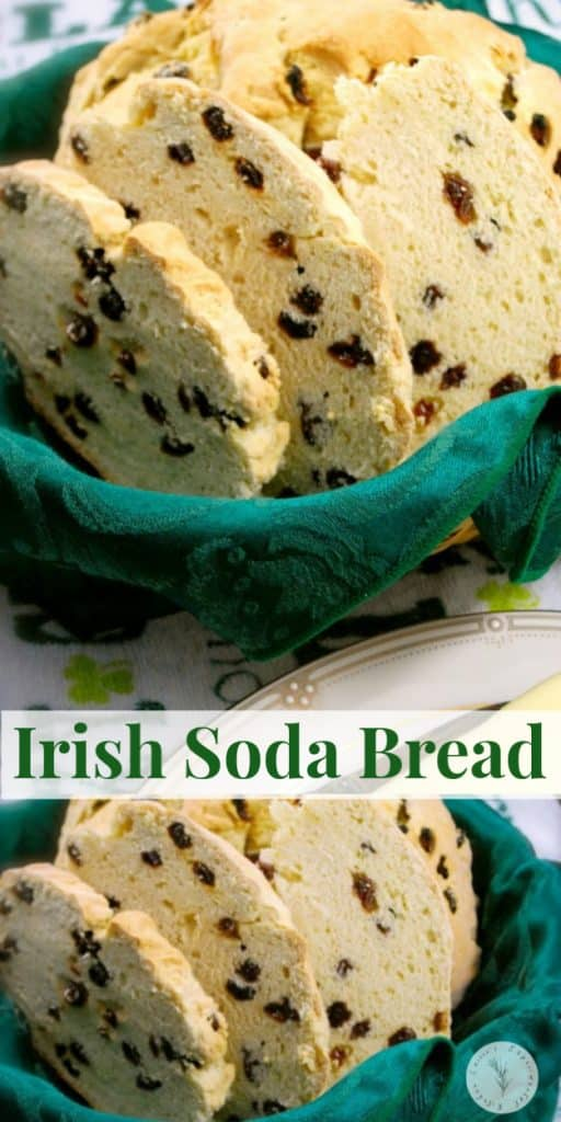 This homemade Irish Soda Bread made with buttermilk, flour and raisins is moist and delicious. Make it all year long, not just St. Patrick's Day!