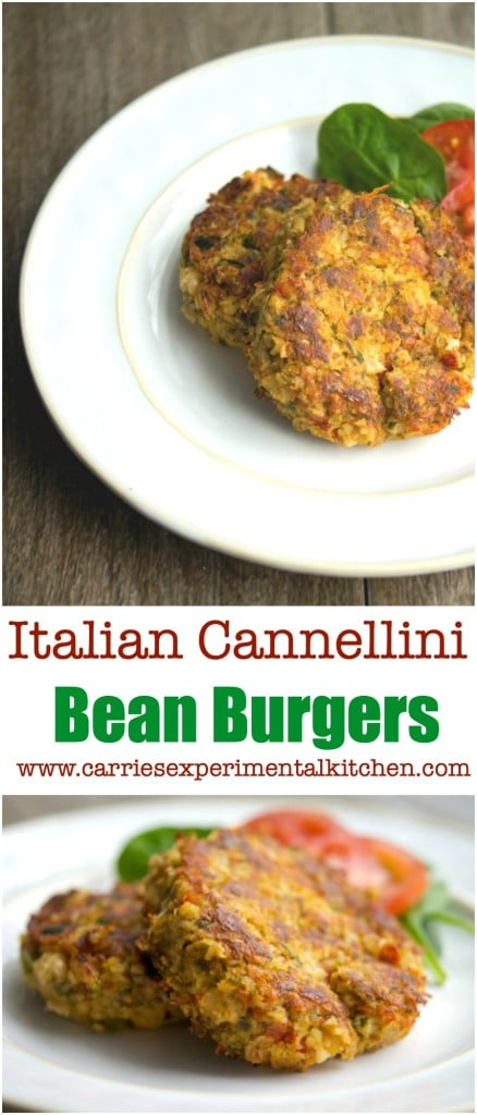 These Italian Cannellini Bean Burgers are delicious, quick and easy weeknight meal that is loaded with protein and flavor.