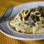 Rigatoni with Portobello Mushrooms & Spinach