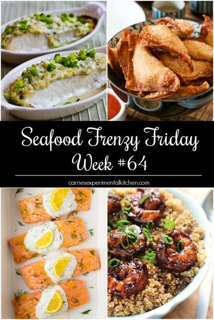 Seafood Frenzy Friday is my way of showcasing those fabulous seafood recipes I find throughout the week to share with you since I don't eat seafood myself. We're on Week #64 and these recipes look incredible.