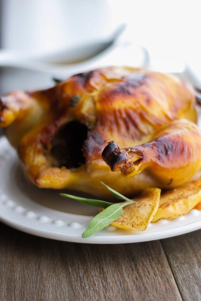 Apple Cider Brined Roasted Chicken