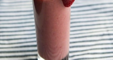 Banana, Strawberry & Peach Smoothie