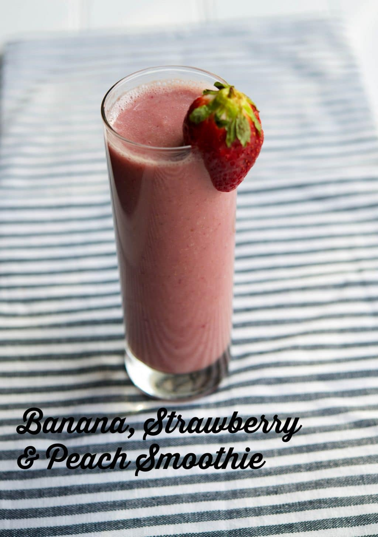 Banana-Strawberry-Peach Smoothies Recipe — Dishmaps