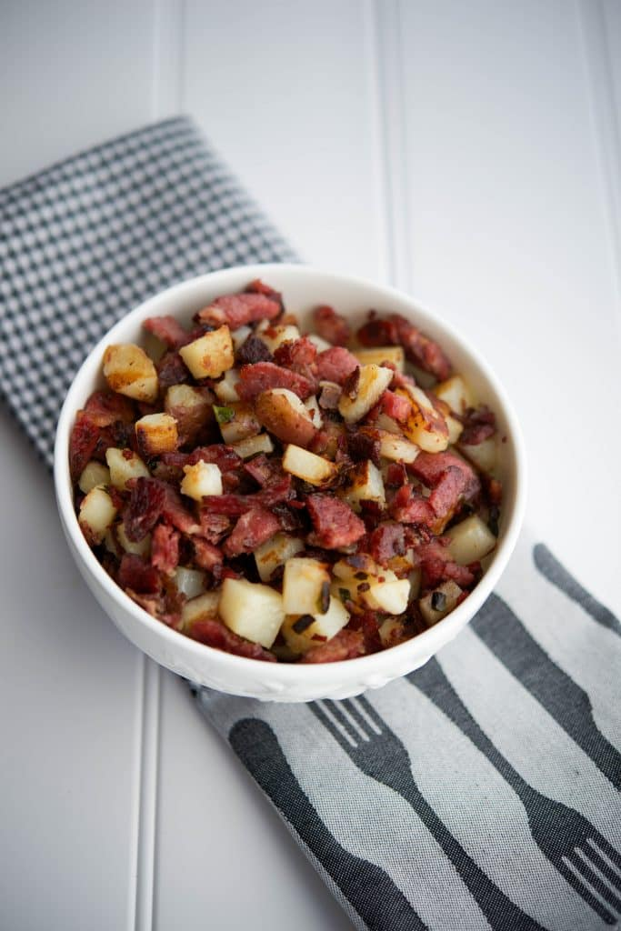 Corned Beef Hash is the perfect use for St. Patrick's Day leftovers, but don't wait until then to make this breakfast side dish;  it's tasty all year long!