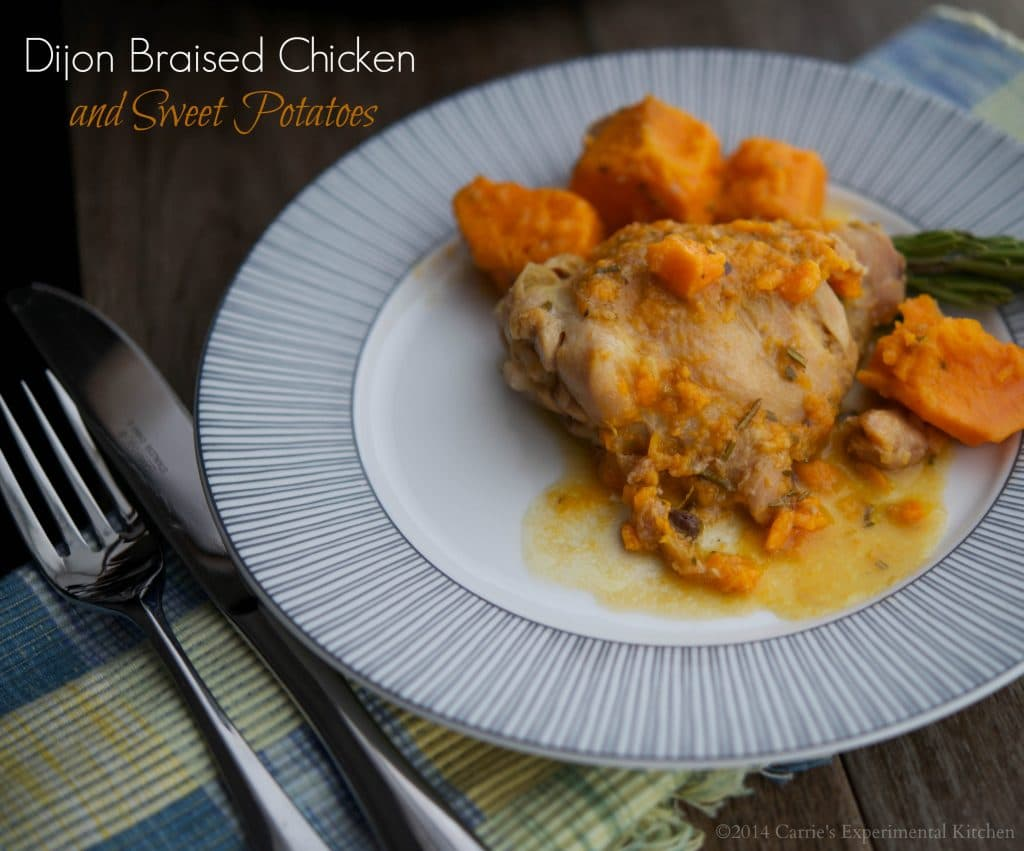 Dijon Braised Chicken with Sweet Potatoes