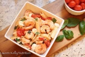 gf shrimp caprese pasta