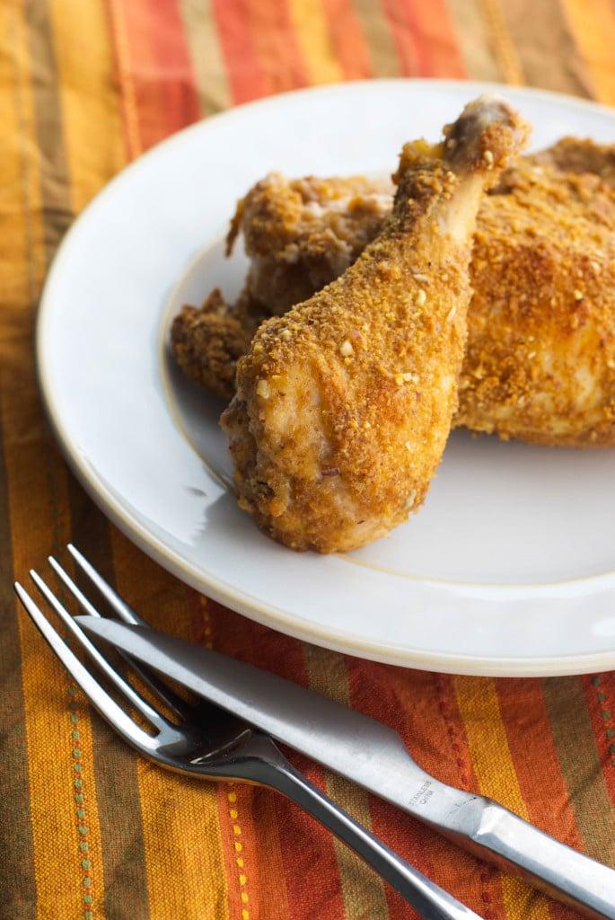 graham cracker pecan baked chicken_