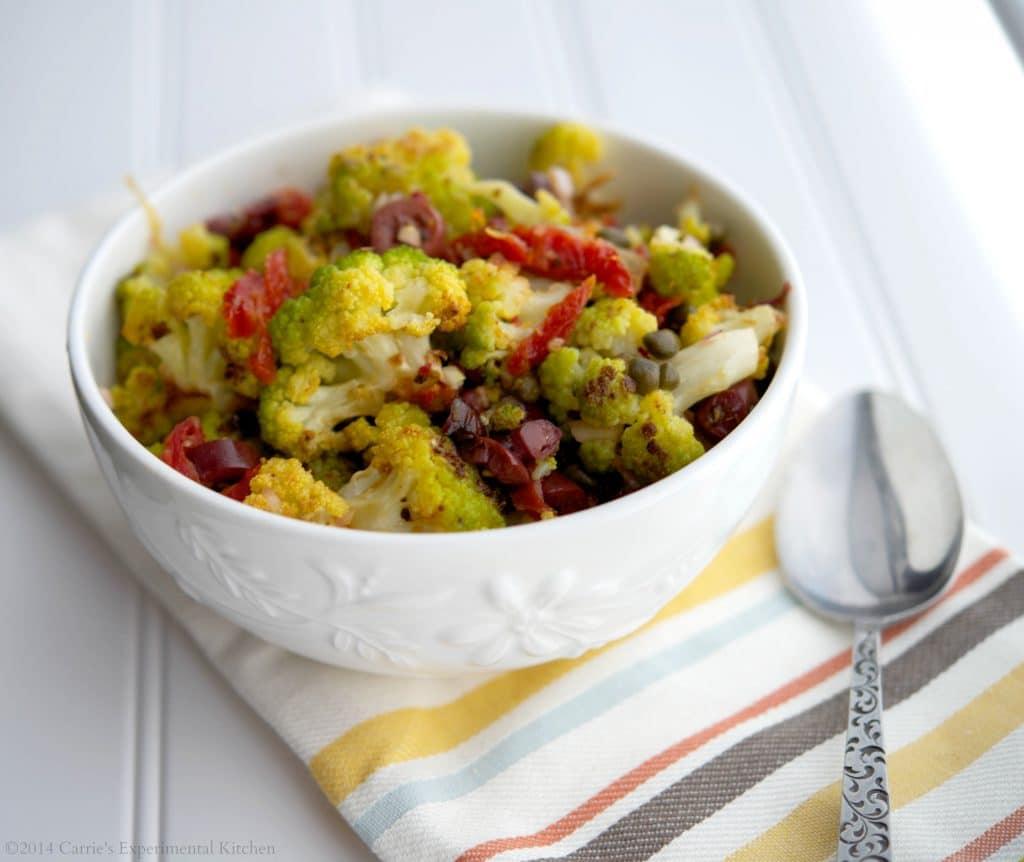 Mediterranean Broccoflower Salad
