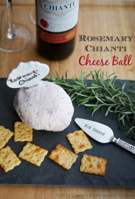 Rosemary Chianti Cheese Ball | Carrie's Experimental Kitchen #appetizer #cheese #wine