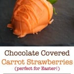 Have some fun in the kitchen with the kids this year by making these festive Chocolate Covered Carrot Strawberries.