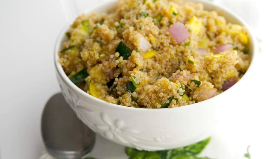 Grilled Squash Quinoa Salad