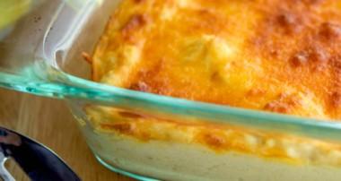 Horseradish Cheddar Cauliflower Gratin