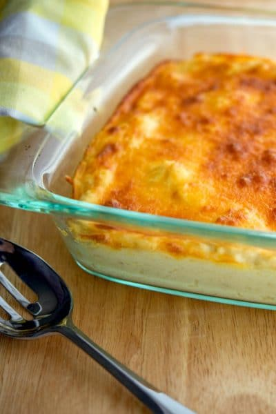 Vegetable casseroles like this Horseradish Cheddar Cauliflower Gratin make a tasty side dish with a little extra added spicy flavor.