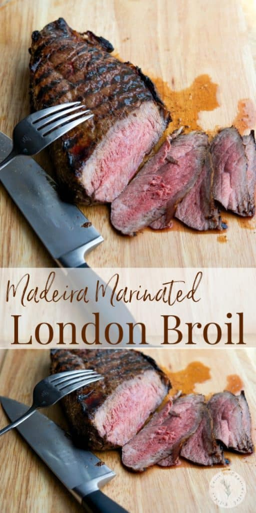 London Broil marinated in Madeira wine, extra virgin olive oil, fresh squeezed lemon juice, garlic and oregano; then grilled to perfection.